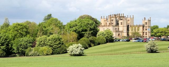 the castle and grounds of sherborne castle