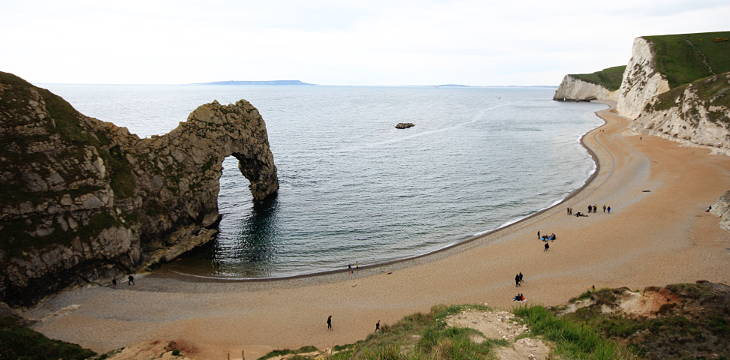 durdle door and the jurassic coast