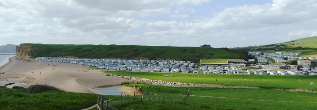 caravan holiday park on the jurassic coast