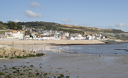 The beach at Lyme Regis
