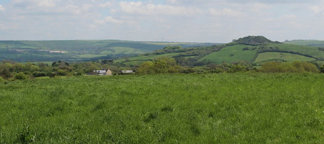 looking over to Shipton Hill