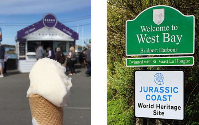 ice cream and welcome sign