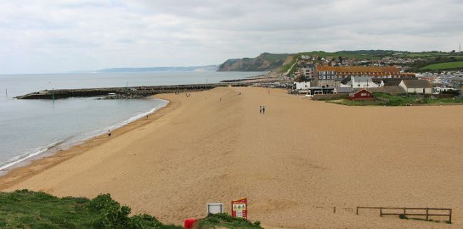 west bay beach and jurassic coast