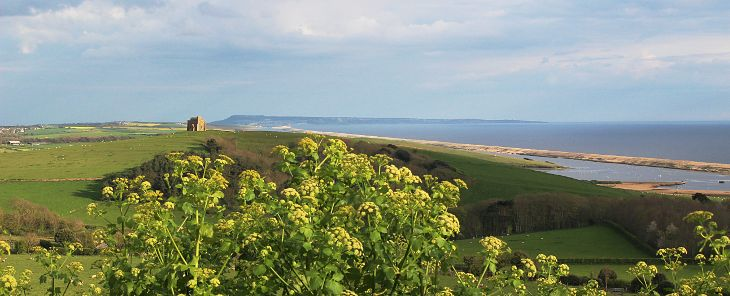 chesil beach and st catherine's chapel, west dorset
