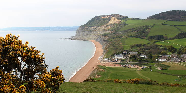 enjoy a walk and the view to golden cap