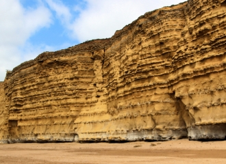 Hive Beach cliffs
